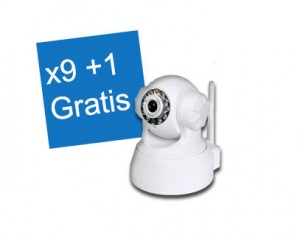 10x IP Camera - Viewcam - Draadloze internet camera - HD - Infrarood - NIP-20(OZX) Wit